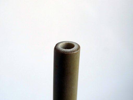 détail d'une paille en bambou