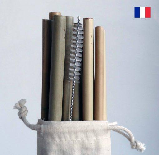 lot de pailles bambou made in france