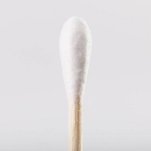 tête de coton tige en bambou