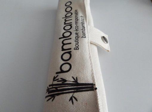 pochette en coton couverts en bambou