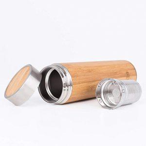 mug thermos bambou couché