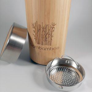 Thermos en bambou et acier inoxydable