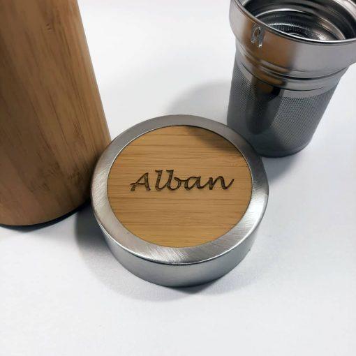 thermos bambou bouchon personnalisé alban