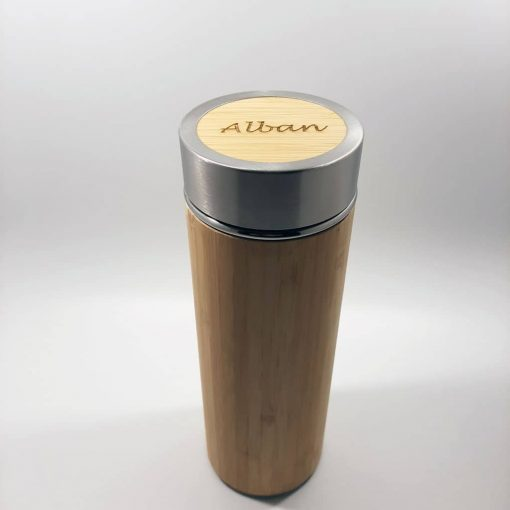 thermos bambou personnalisée alban
