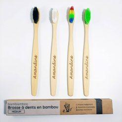 4 brosses personnalisables en bambou