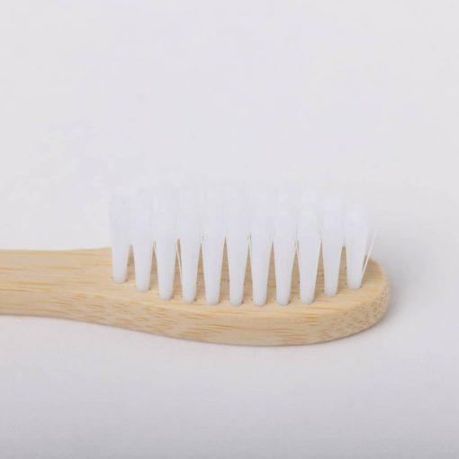 tête brosse à dents en bambou blanche
