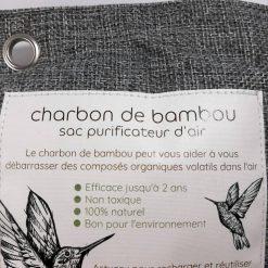 1 sac de charbon de bambou actif détail haut