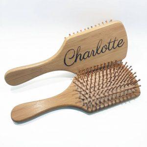 Brosses à cheveux en bambou