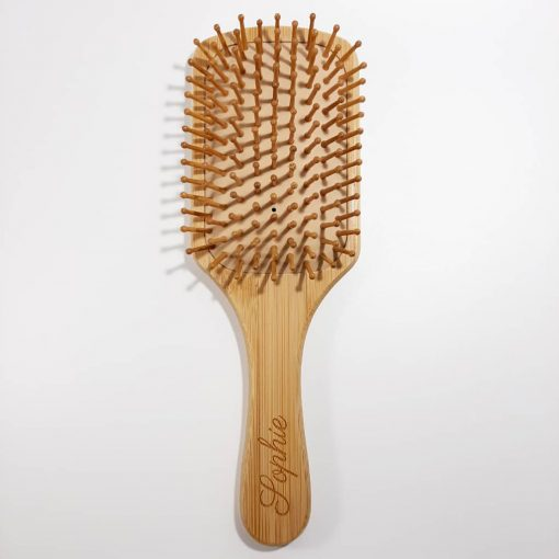 brosse a cheveux en bambou